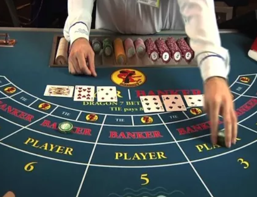 baccarat dealer table